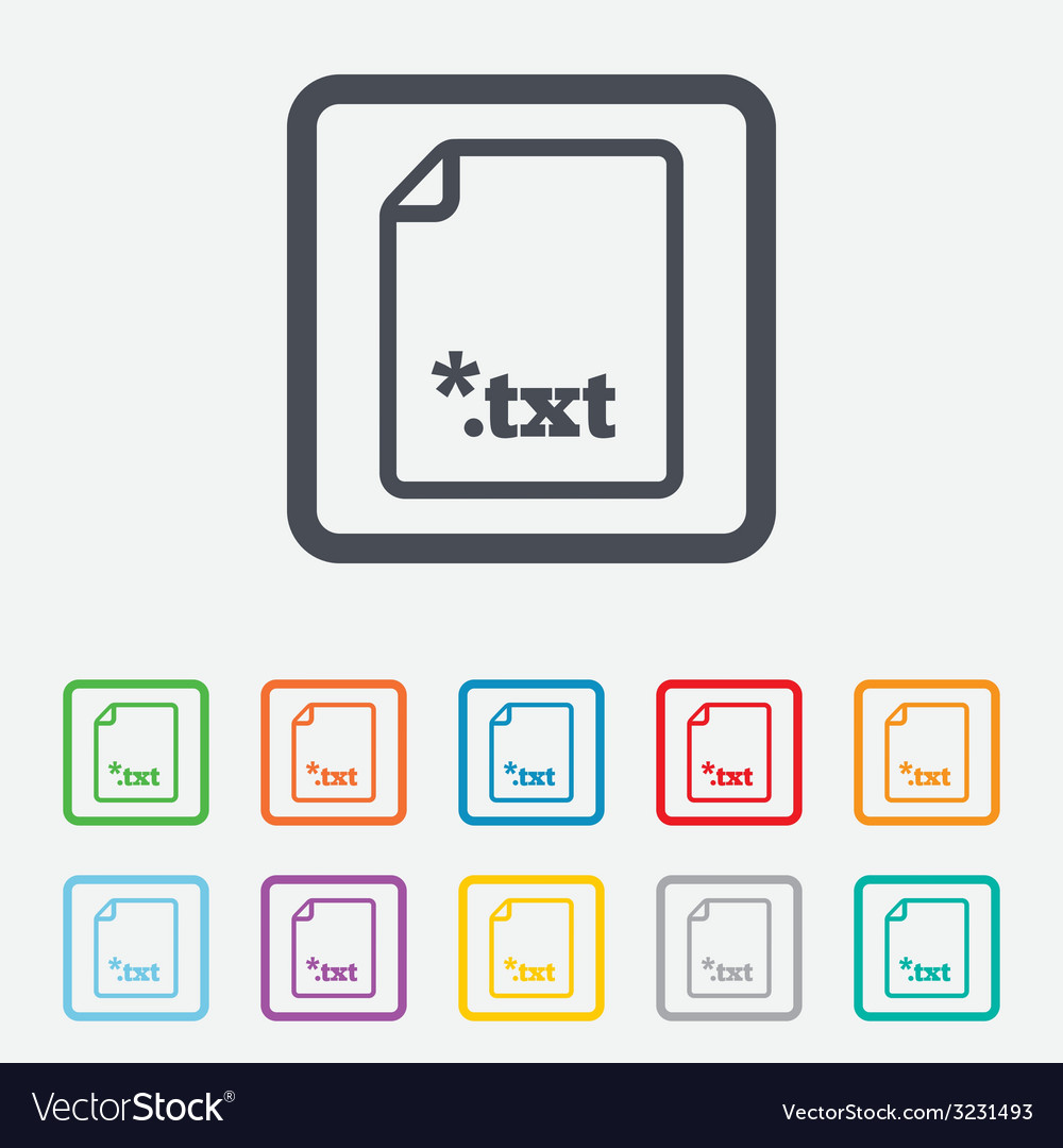 Text file icon download txt doc button vector | Price: 1 Credit (USD $1)