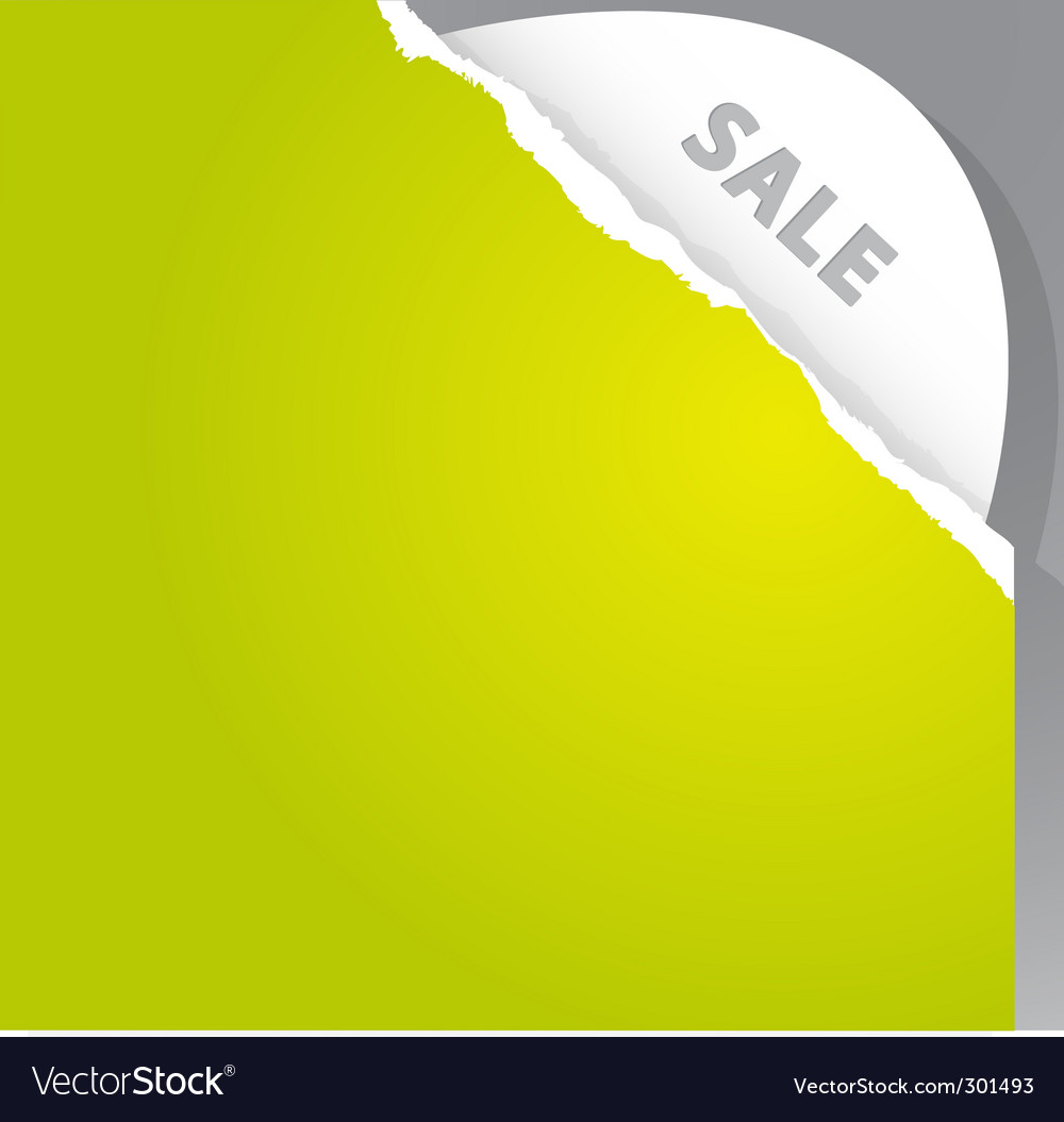 Torn paper sale sign vector | Price: 1 Credit (USD $1)