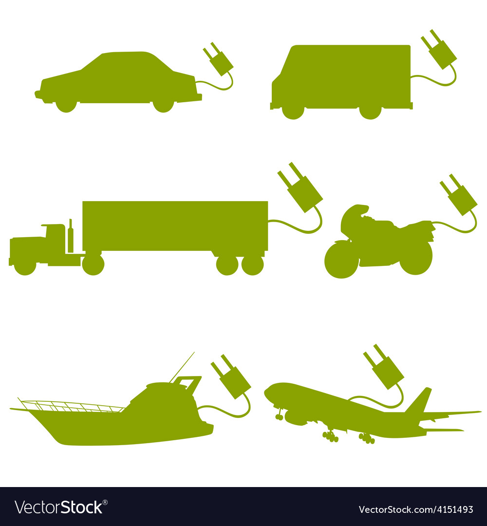 Transport vehicle green vector | Price: 1 Credit (USD $1)