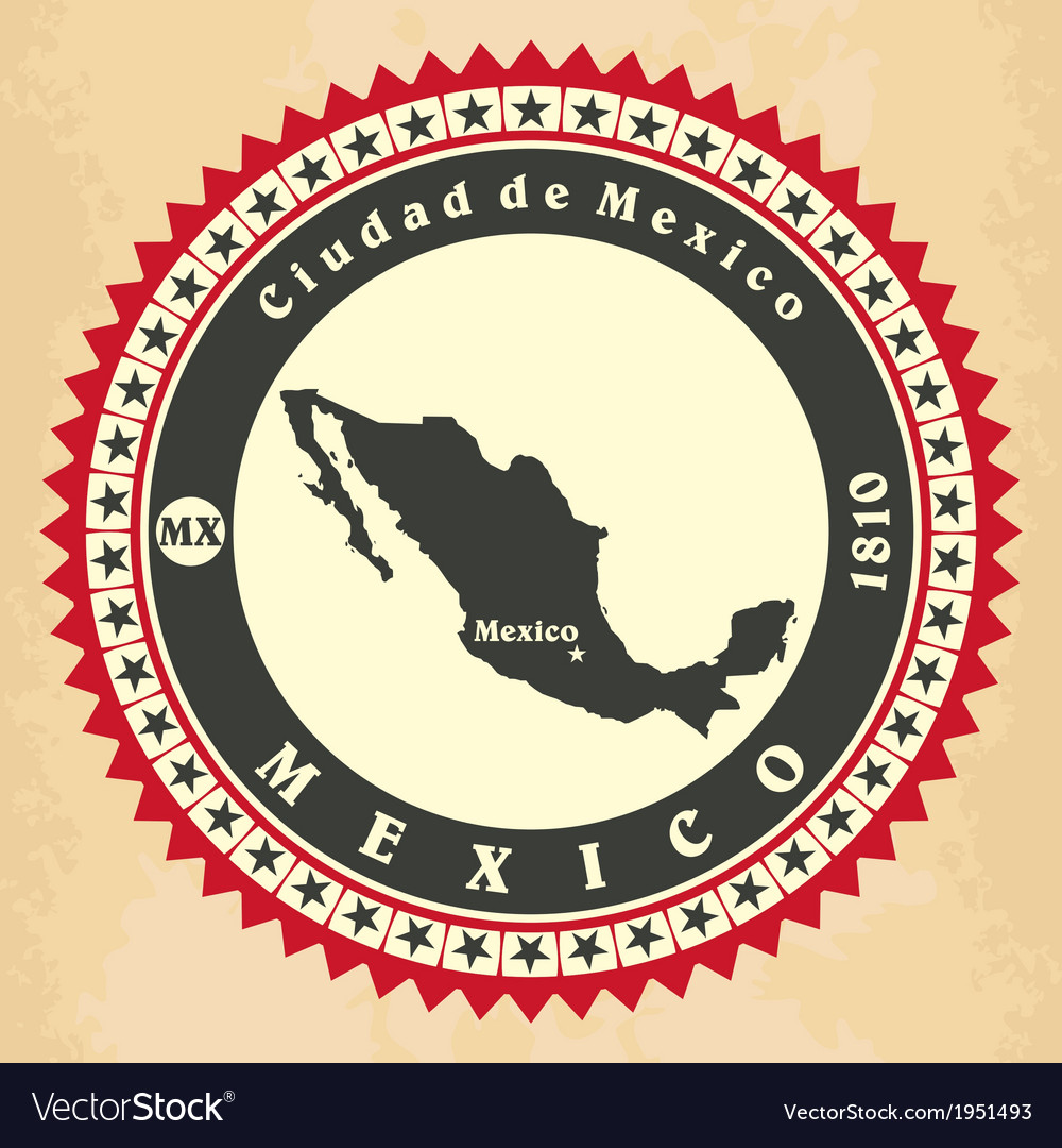 Vintage label-sticker cards of mexico vector | Price: 1 Credit (USD $1)