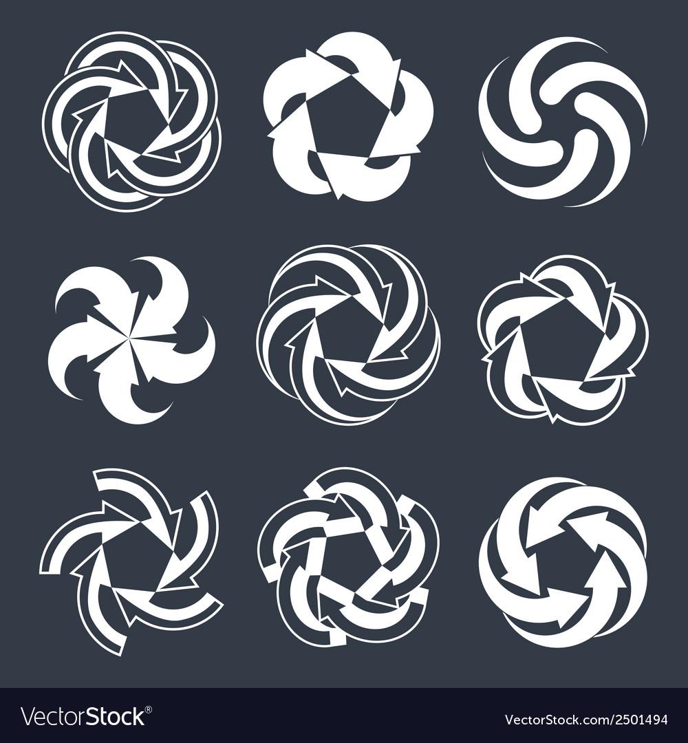 Arrows abstract loop symbols conceptual pictogram vector | Price: 1 Credit (USD $1)
