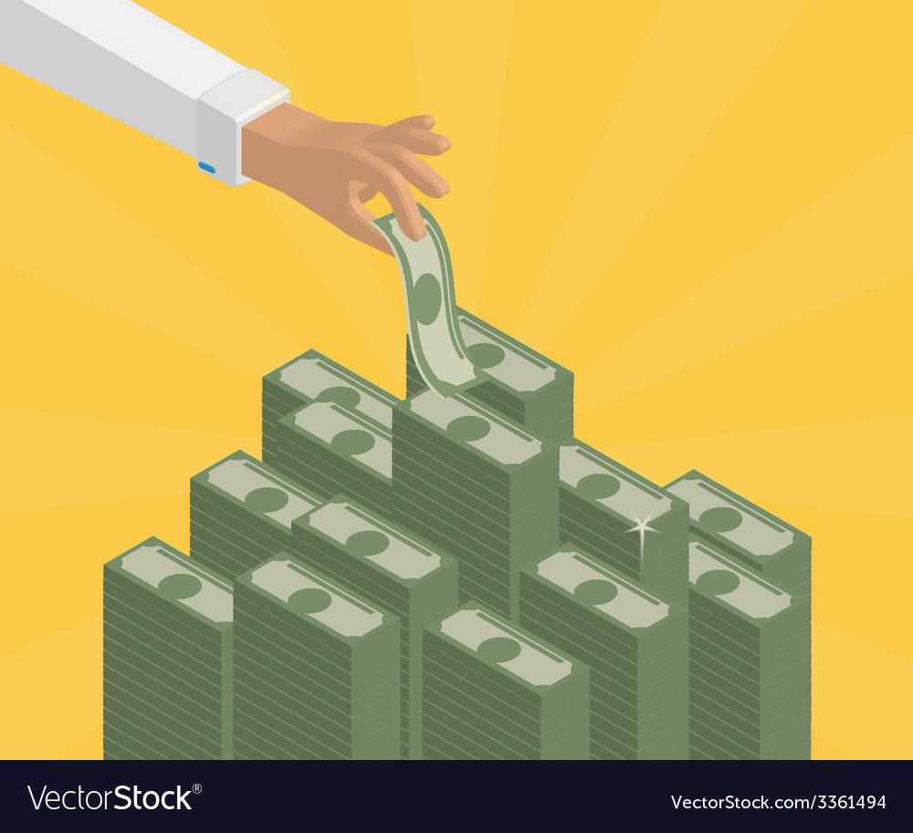 Banking deposits vector | Price: 1 Credit (USD $1)