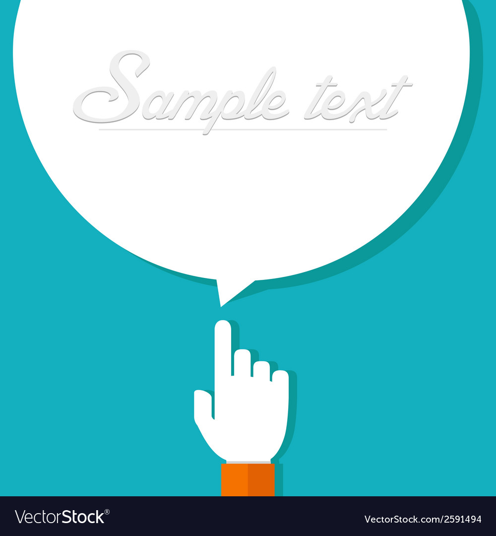 Forefinger with bubble vector | Price: 1 Credit (USD $1)