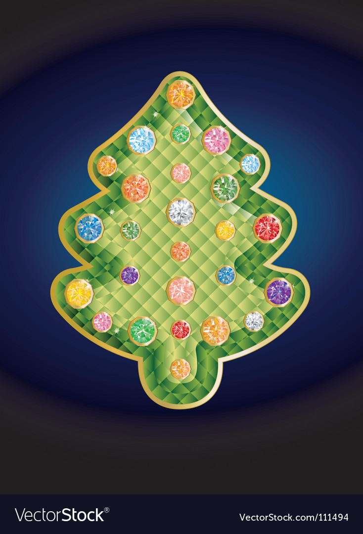 Gemstone christmas tree vector | Price: 1 Credit (USD $1)