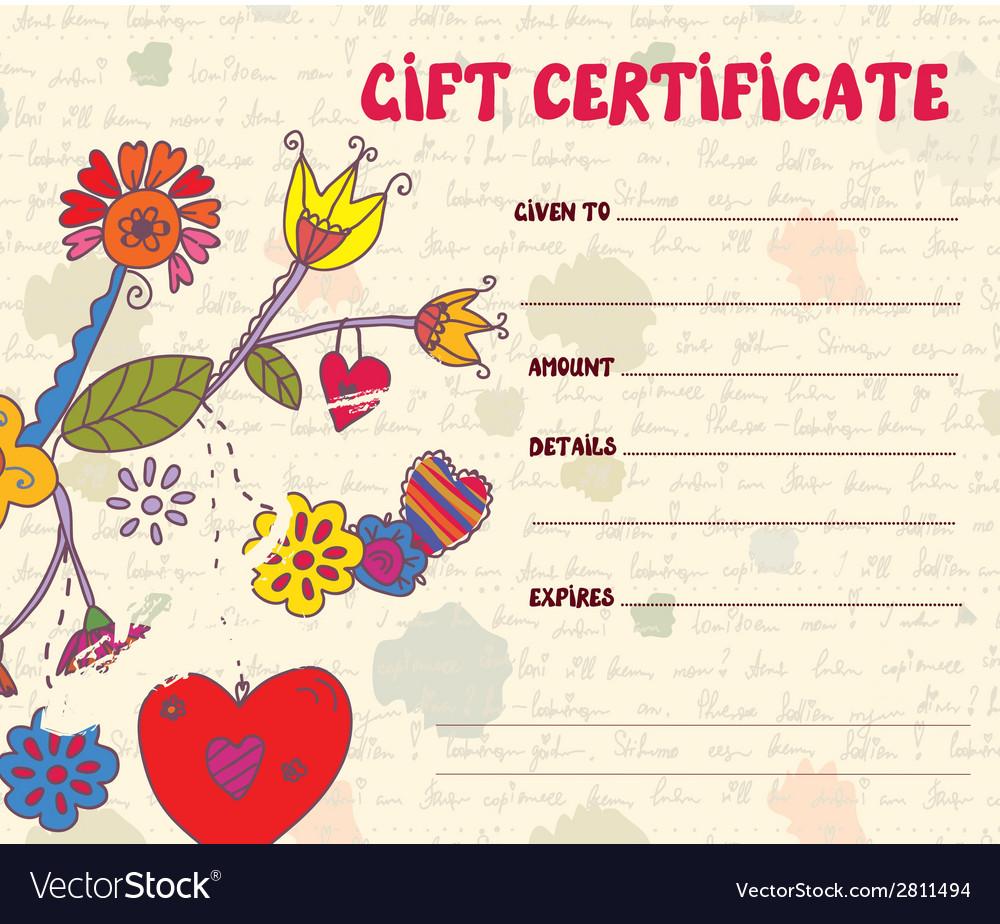 Girft certificate retro design vector | Price: 1 Credit (USD $1)