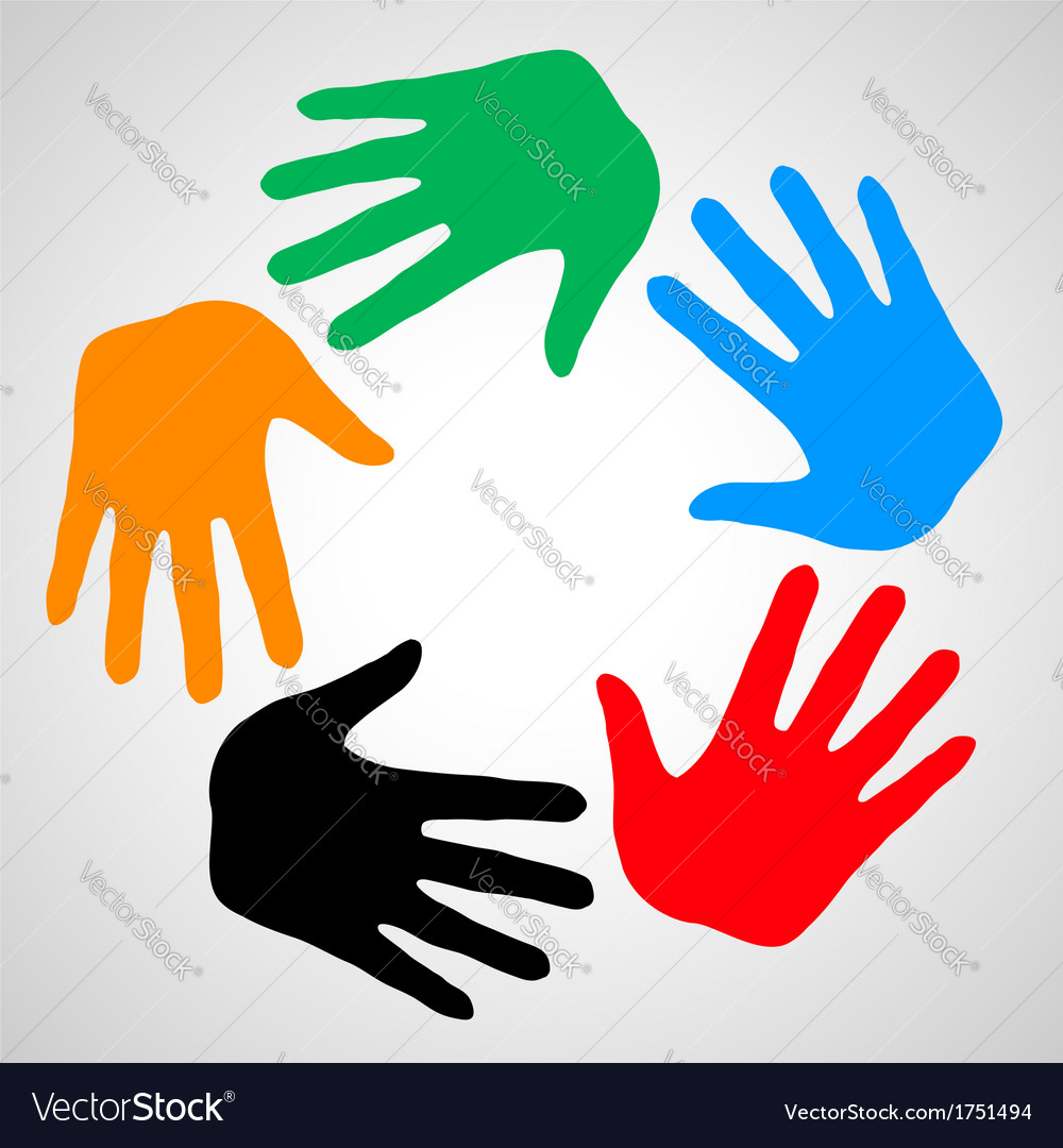 Hands of friendship vector | Price: 1 Credit (USD $1)