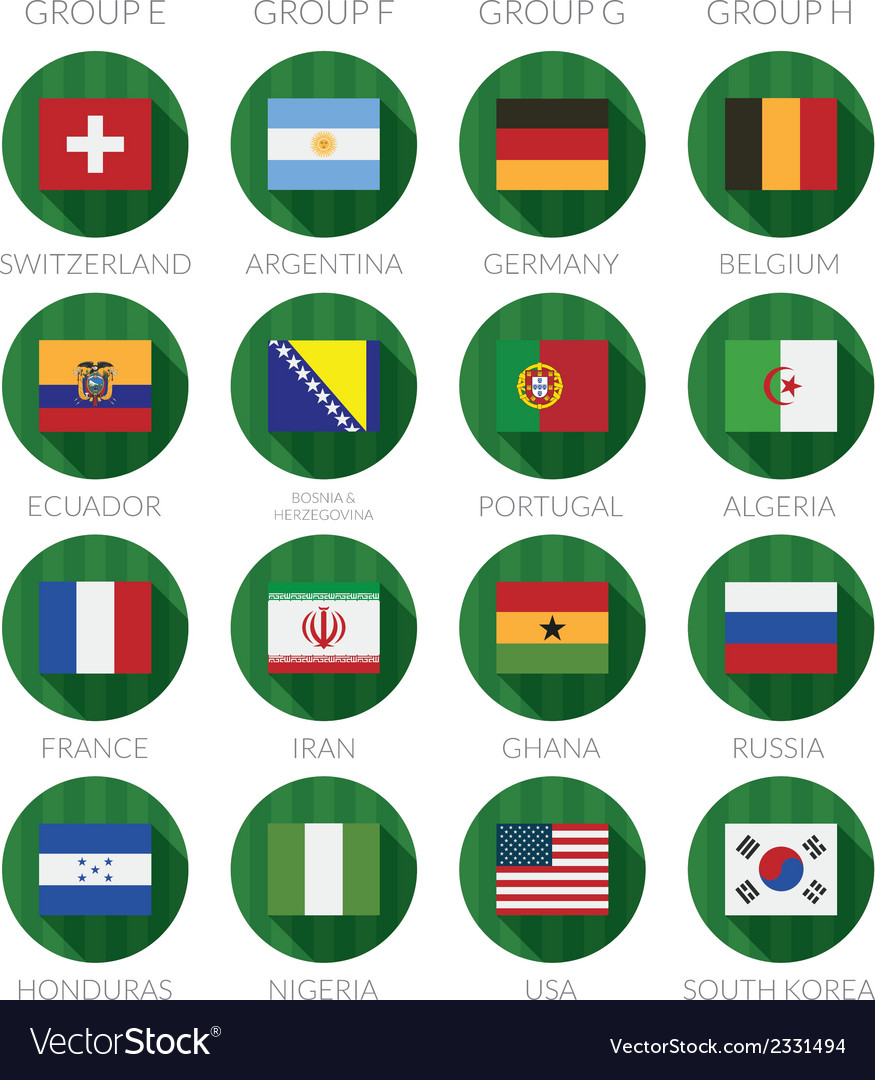 Soccer flag icons vector | Price: 1 Credit (USD $1)