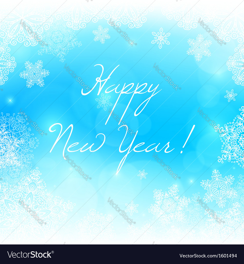 White snowflakes new year background vector | Price: 1 Credit (USD $1)