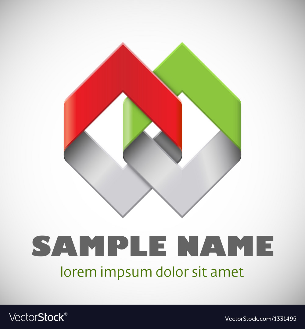 Abstract shape corporate icon vector | Price: 1 Credit (USD $1)