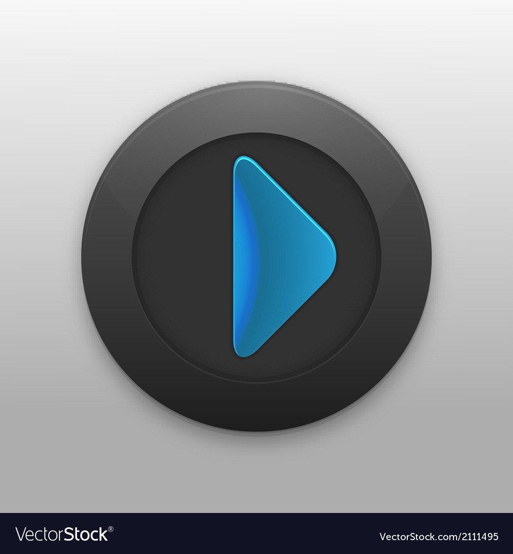 Black button with the play icon for your project vector | Price: 1 Credit (USD $1)