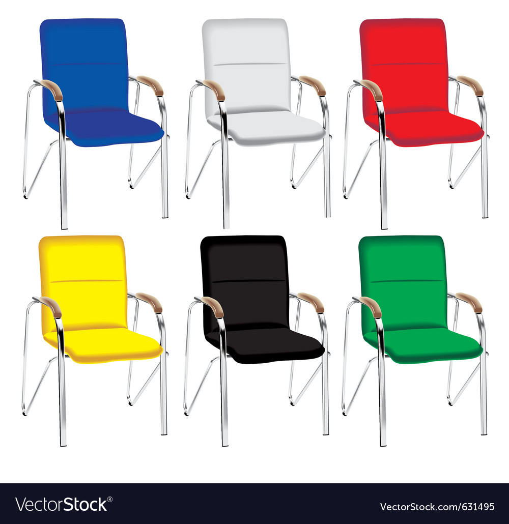 Color metal chair vector | Price: 1 Credit (USD $1)