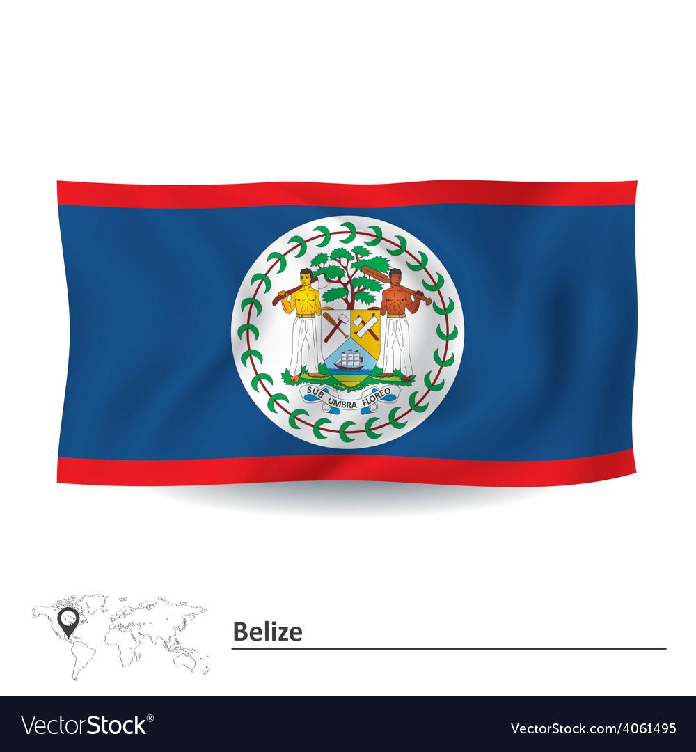 Flag of belize vector | Price: 1 Credit (USD $1)
