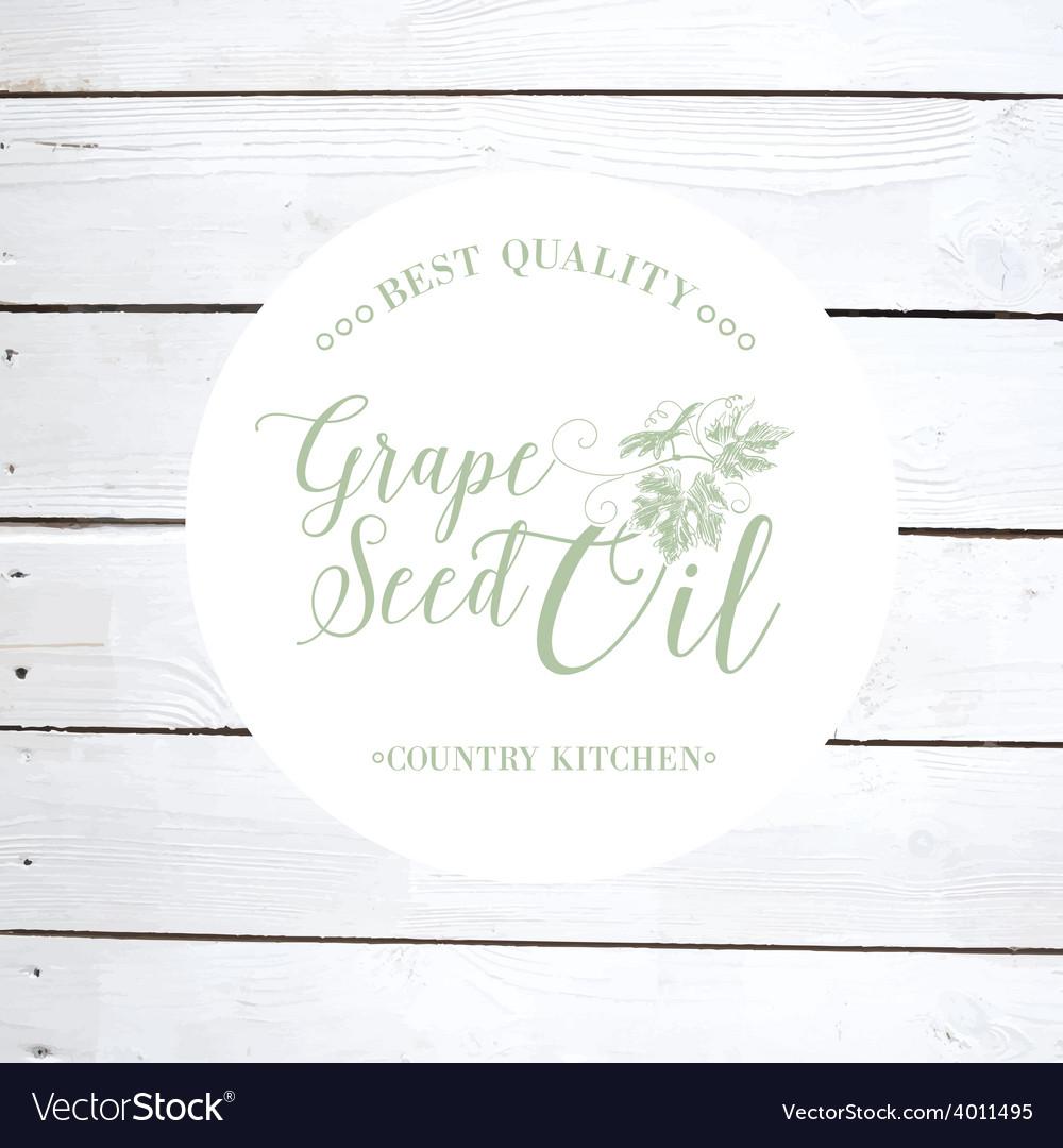 Grape seed oil vector