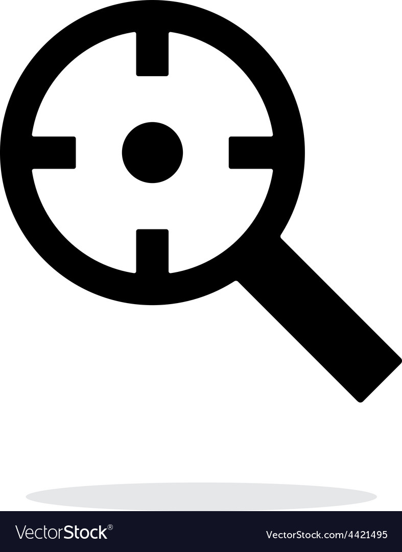 Magnifier crosshair icon on white background vector