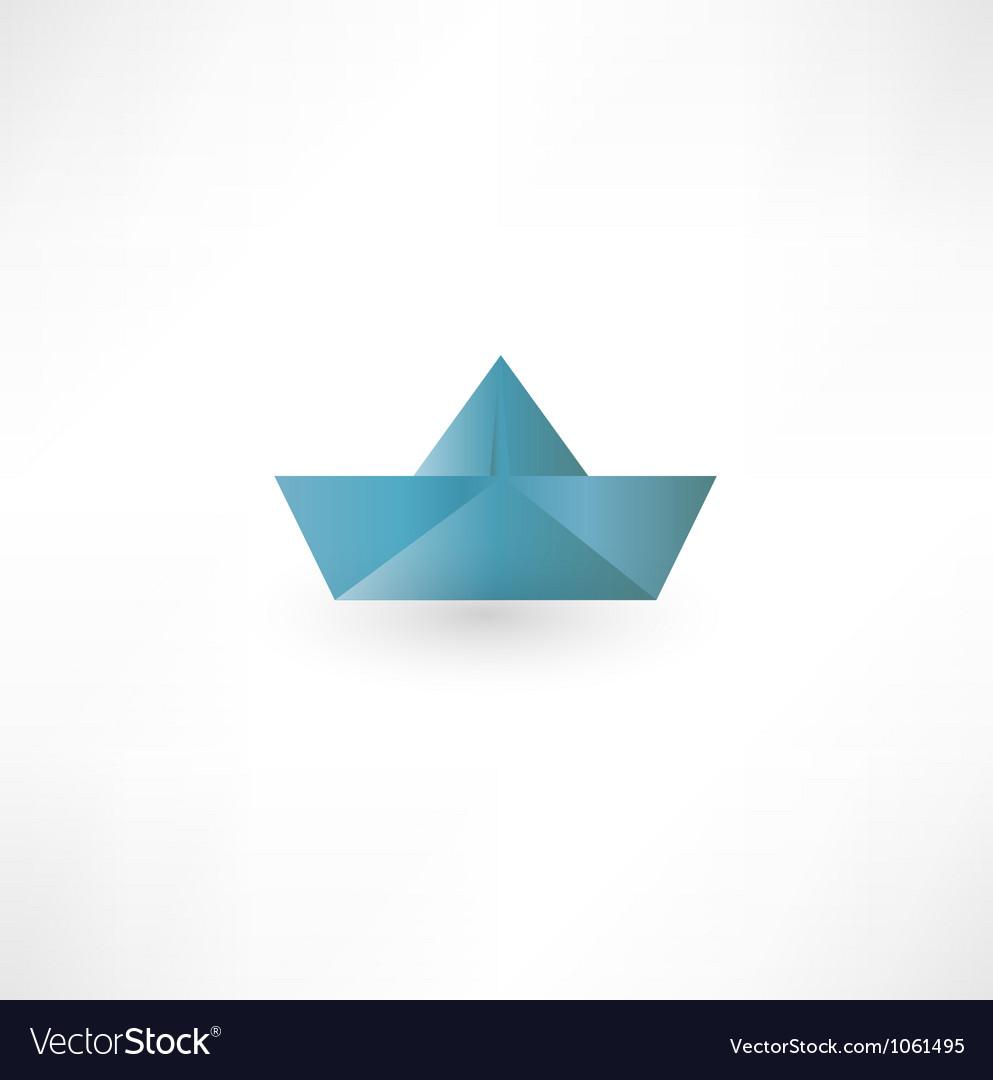 Paper boat symbol vector | Price: 1 Credit (USD $1)