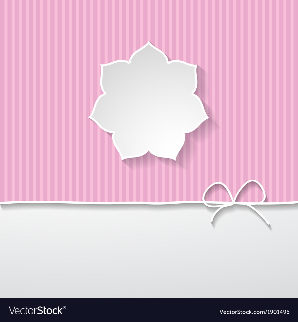 Pink striped background with a frame vector | Price: 1 Credit (USD $1)