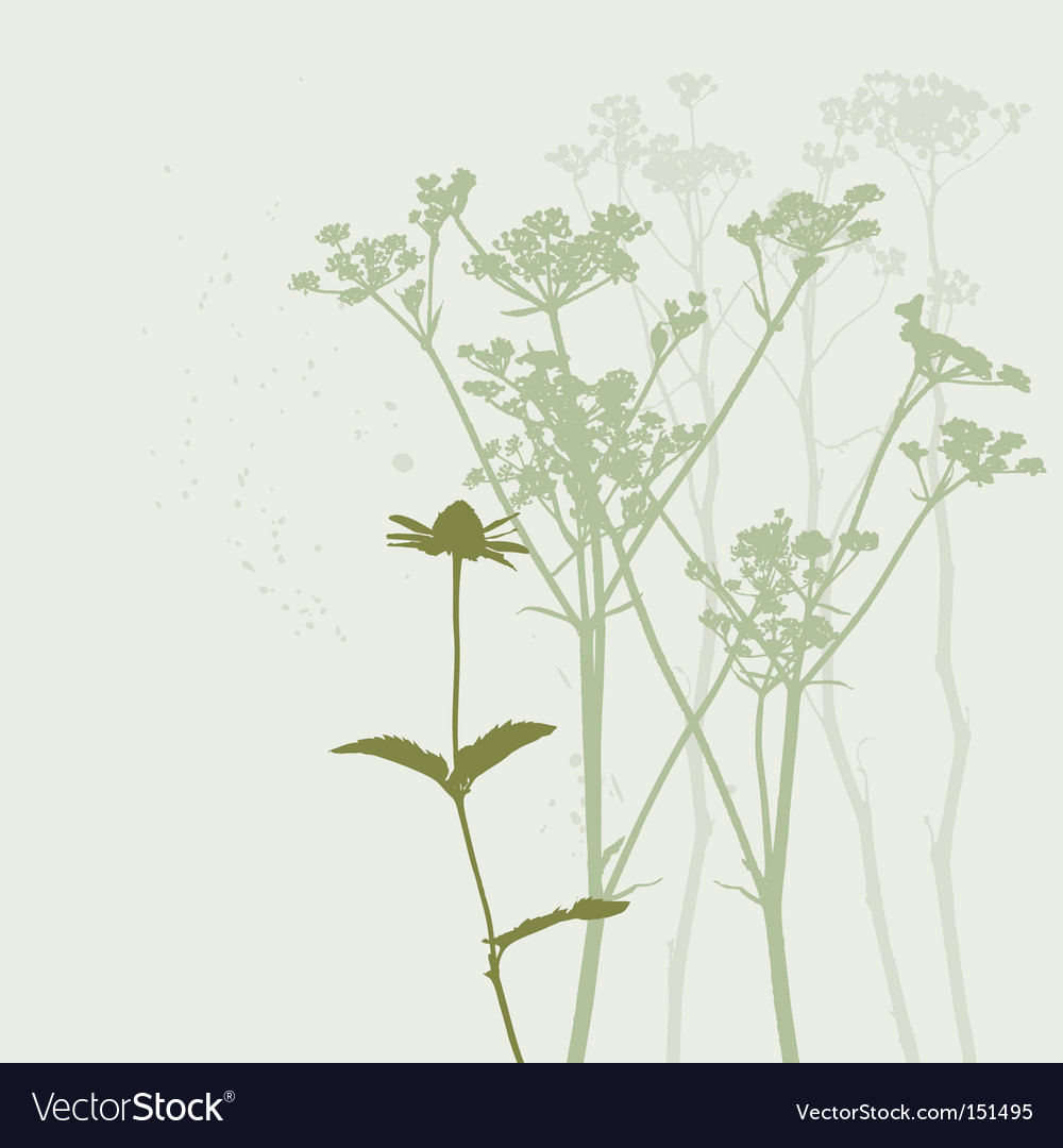 Real grass silhouette summer background vector | Price: 1 Credit (USD $1)