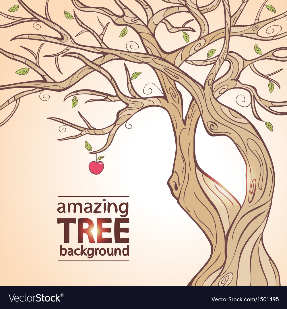 Tree apple vector
