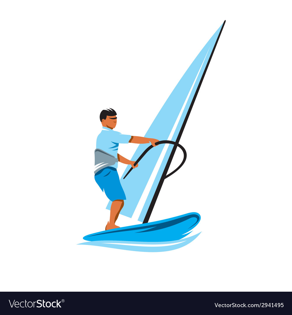 Windsurfing sign vector | Price: 1 Credit (USD $1)
