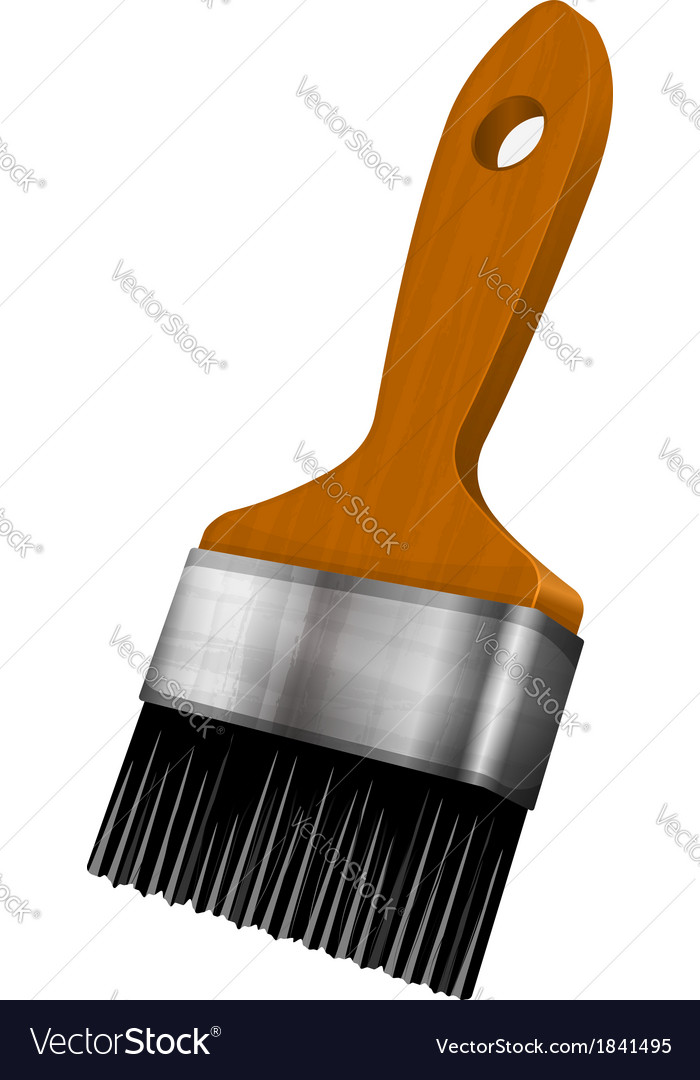 Wooden paint brush vector | Price: 1 Credit (USD $1)