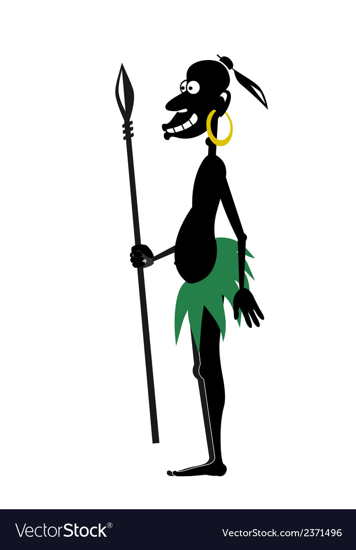 Aboriginal with spear vector | Price: 1 Credit (USD $1)