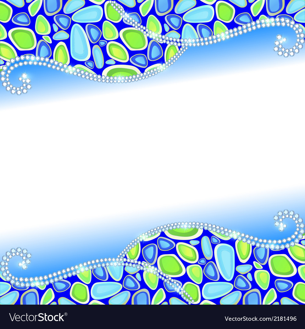 Background with blue stones vector | Price: 1 Credit (USD $1)