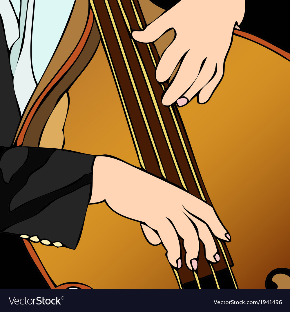 Bass player in concert vector | Price: 1 Credit (USD $1)