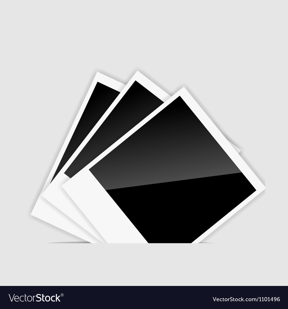 Blank instant photos vector | Price: 1 Credit (USD $1)