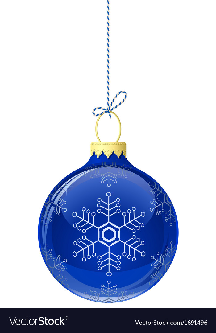 Blue glass christmas ball vector | Price: 1 Credit (USD $1)