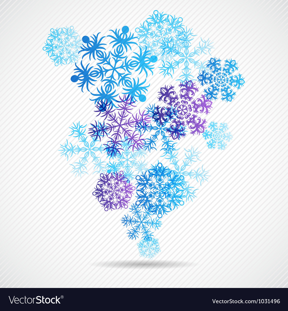 Christmas winter background with snowflake vector | Price: 1 Credit (USD $1)