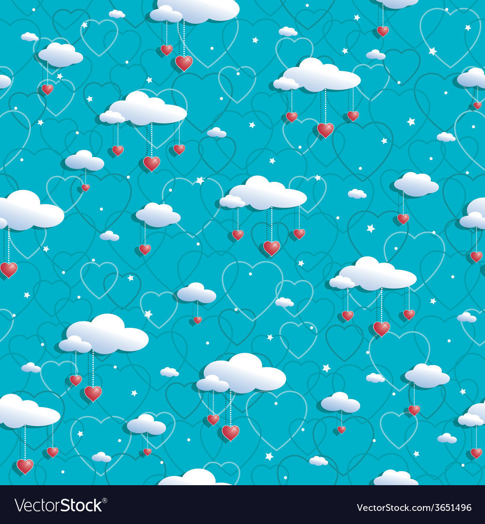 Clouds and hearts vector | Price: 1 Credit (USD $1)