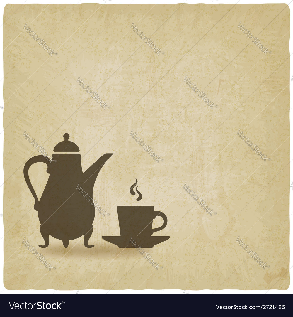 Coffee ceremony old background vector | Price: 1 Credit (USD $1)