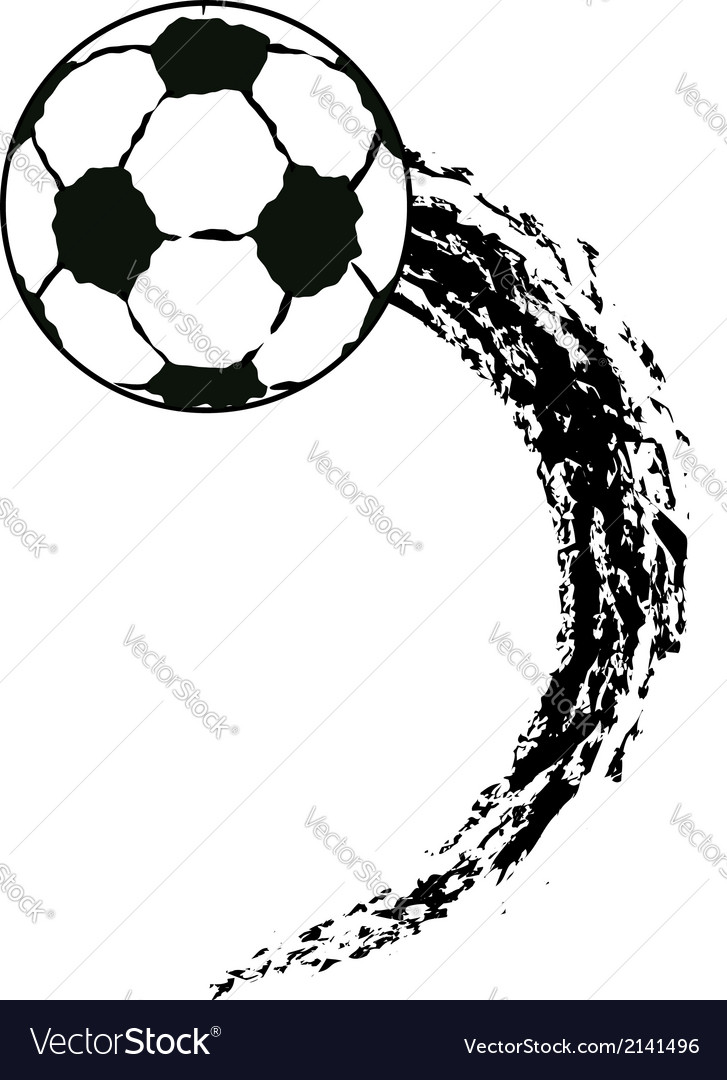 Flying soccer ball vector | Price: 1 Credit (USD $1)