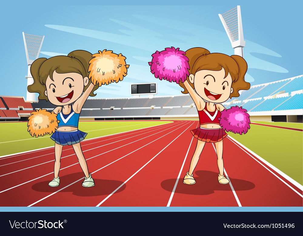 Girls and race track vector | Price: 3 Credit (USD $3)
