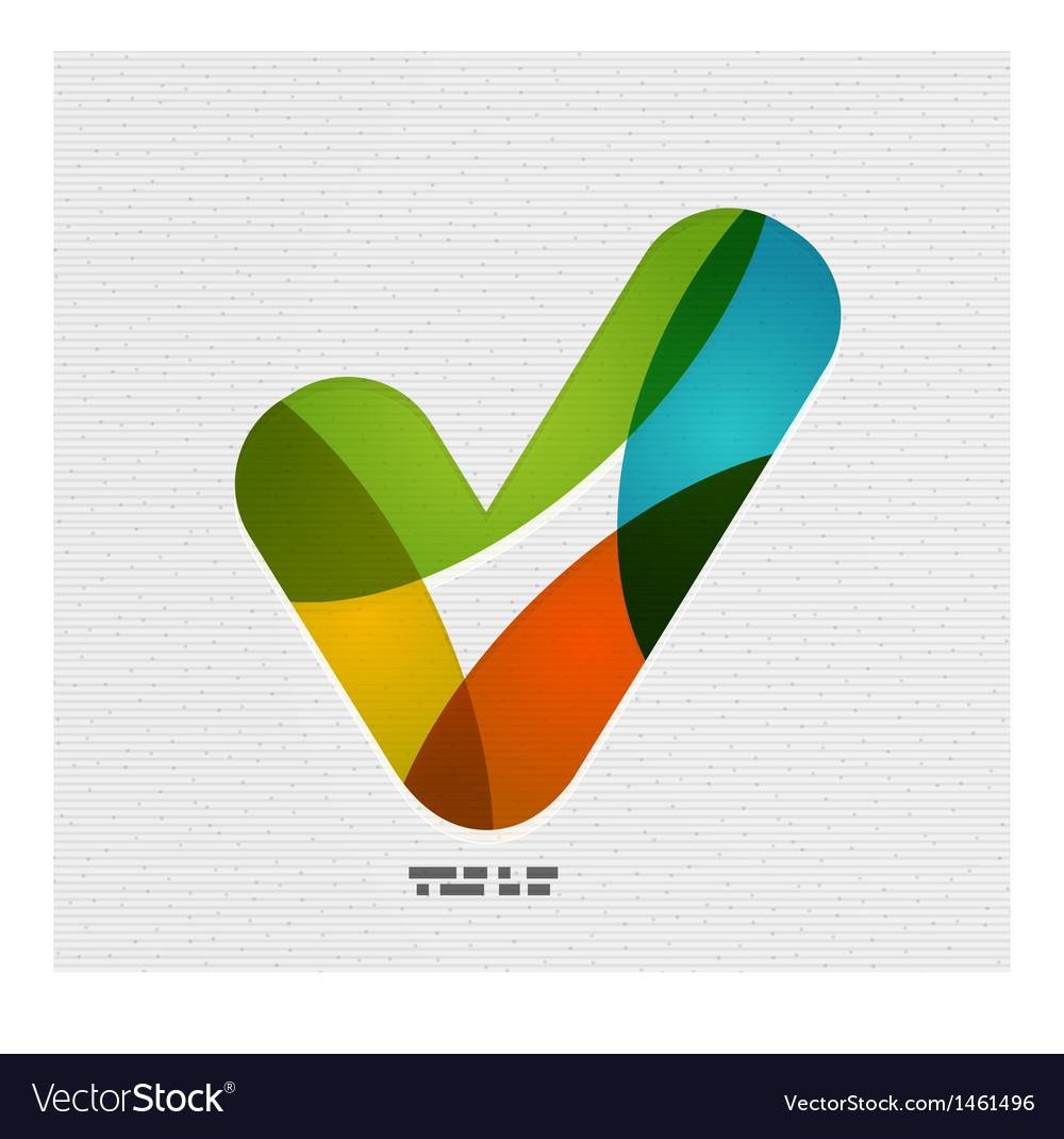 Positive checkmark  tick on paper design vector   Price: 1 Credit (USD $1)