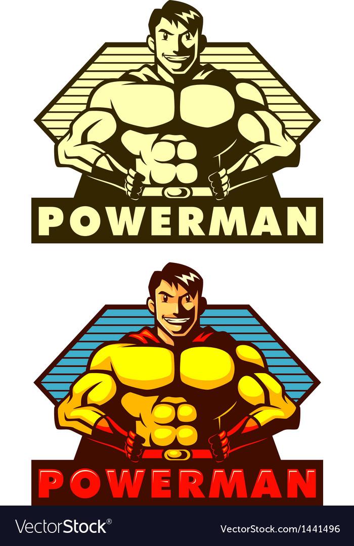Powerman mascot vector | Price: 1 Credit (USD $1)