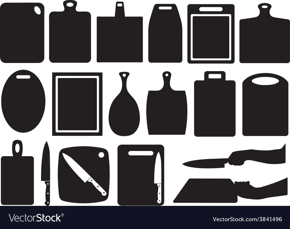 Set of kitchen cutting boards vector | Price: 1 Credit (USD $1)