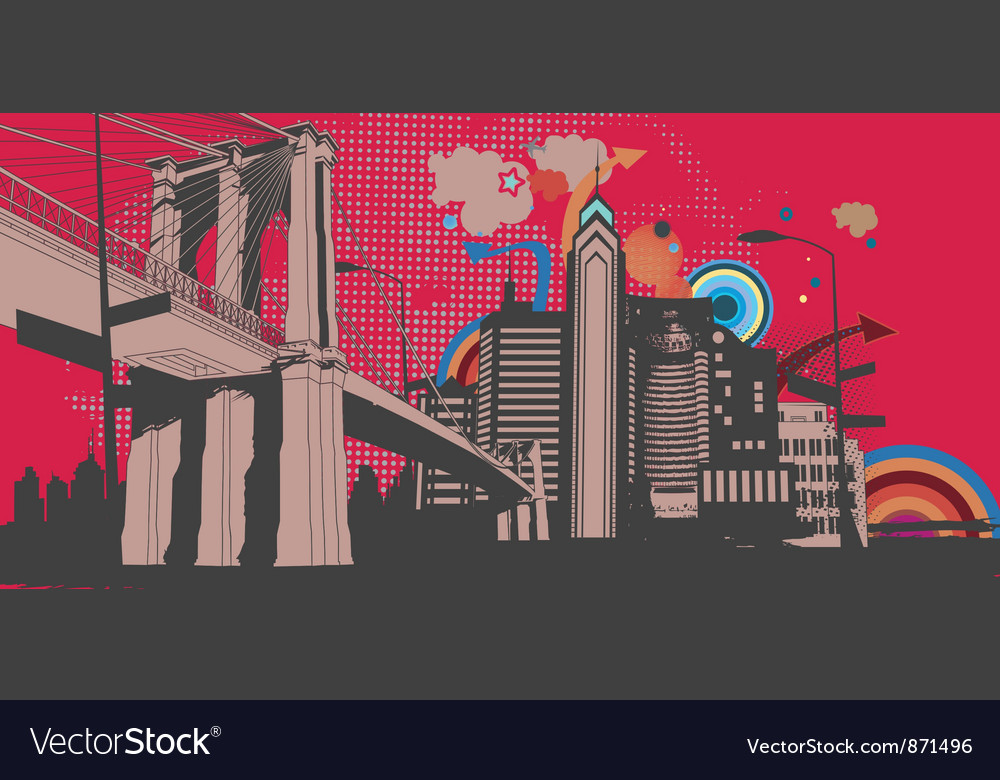 Urban abstract background vector | Price: 1 Credit (USD $1)