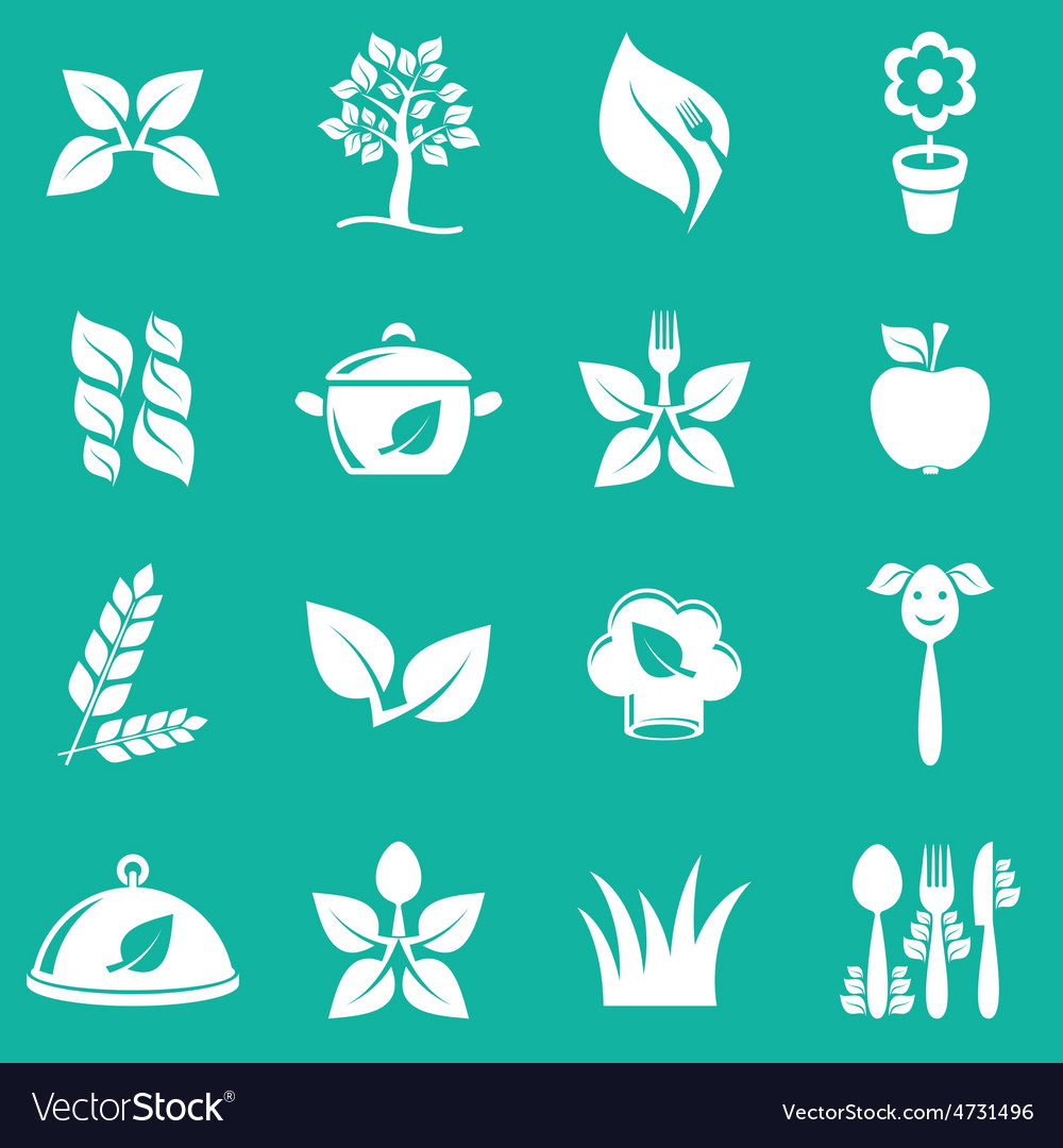 Vegetarian icons vector | Price: 1 Credit (USD $1)