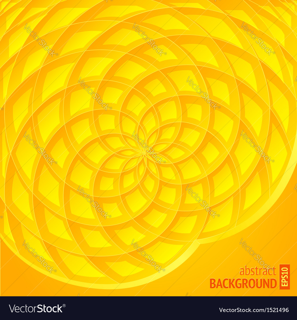 Yellow abstract sunflower background vector | Price: 1 Credit (USD $1)