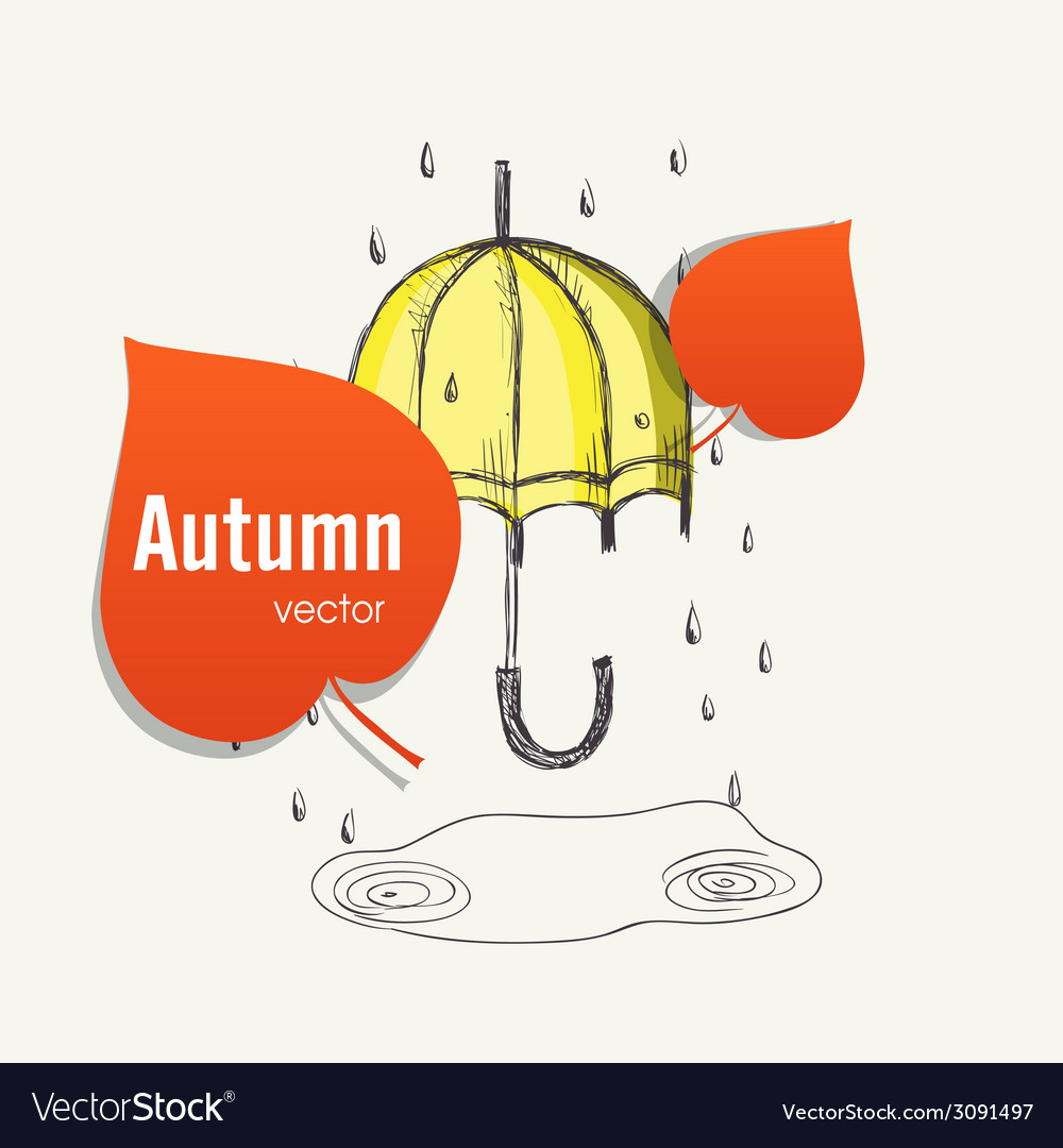 Autumn season concept vector | Price: 1 Credit (USD $1)