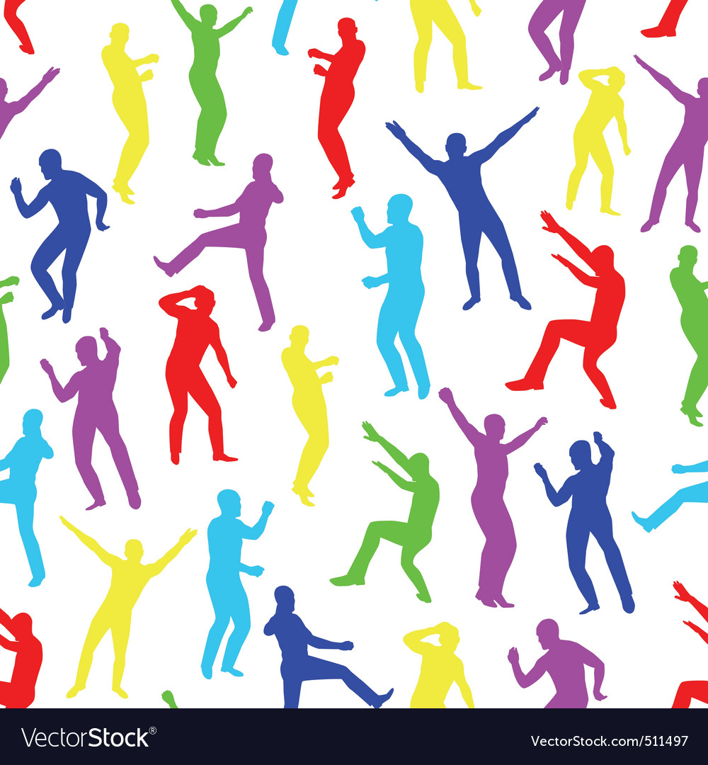 Dancing men vector | Price: 1 Credit (USD $1)