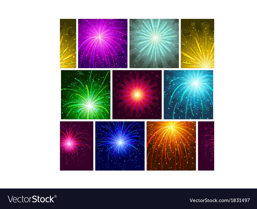 Fireworks seamless vector | Price: 1 Credit (USD $1)