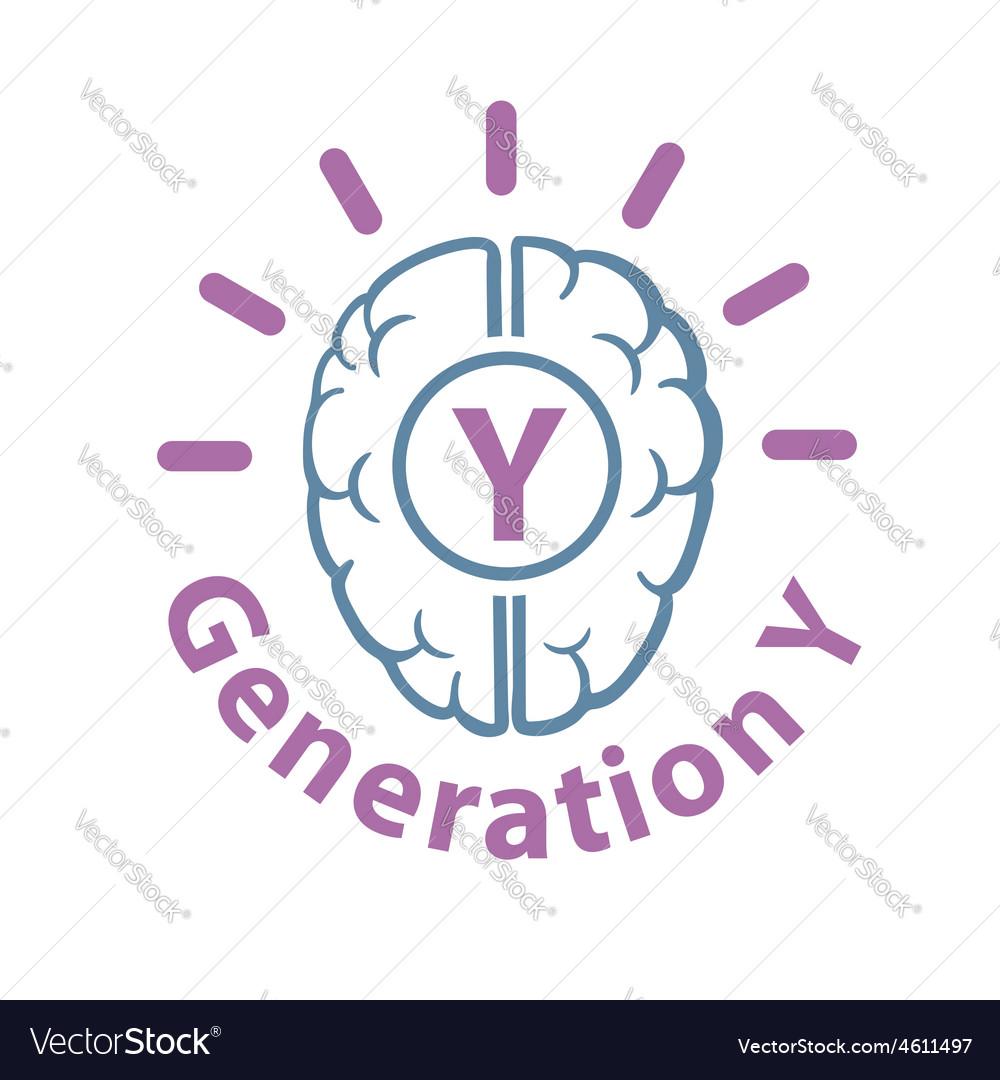Generation y icon vector   Price: 1 Credit (USD $1)