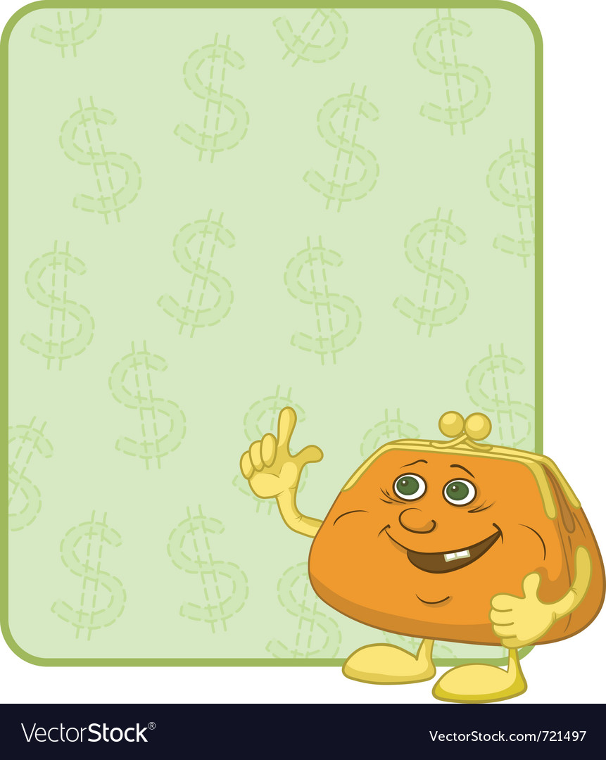 Purse and poster with dollars vector | Price: 1 Credit (USD $1)