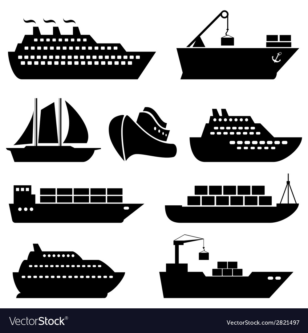 Ship icon set vector | Price: 1 Credit (USD $1)