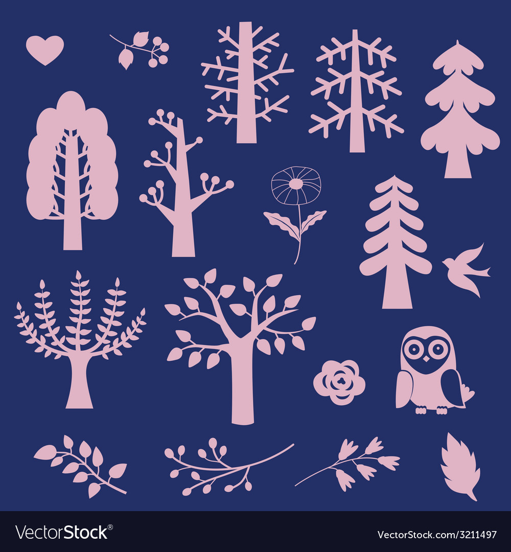 Wood fantasy elements vector | Price: 1 Credit (USD $1)
