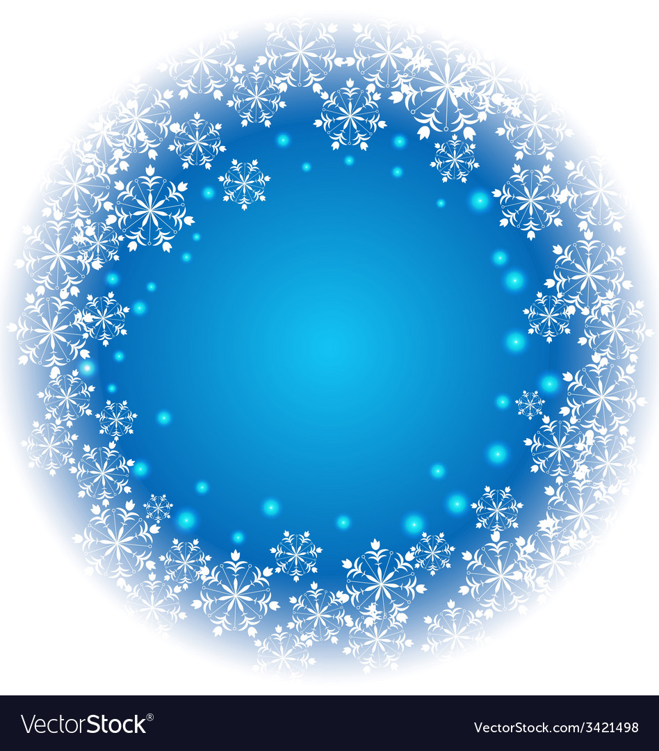Abstract snowflakes on blue background vector | Price: 1 Credit (USD $1)