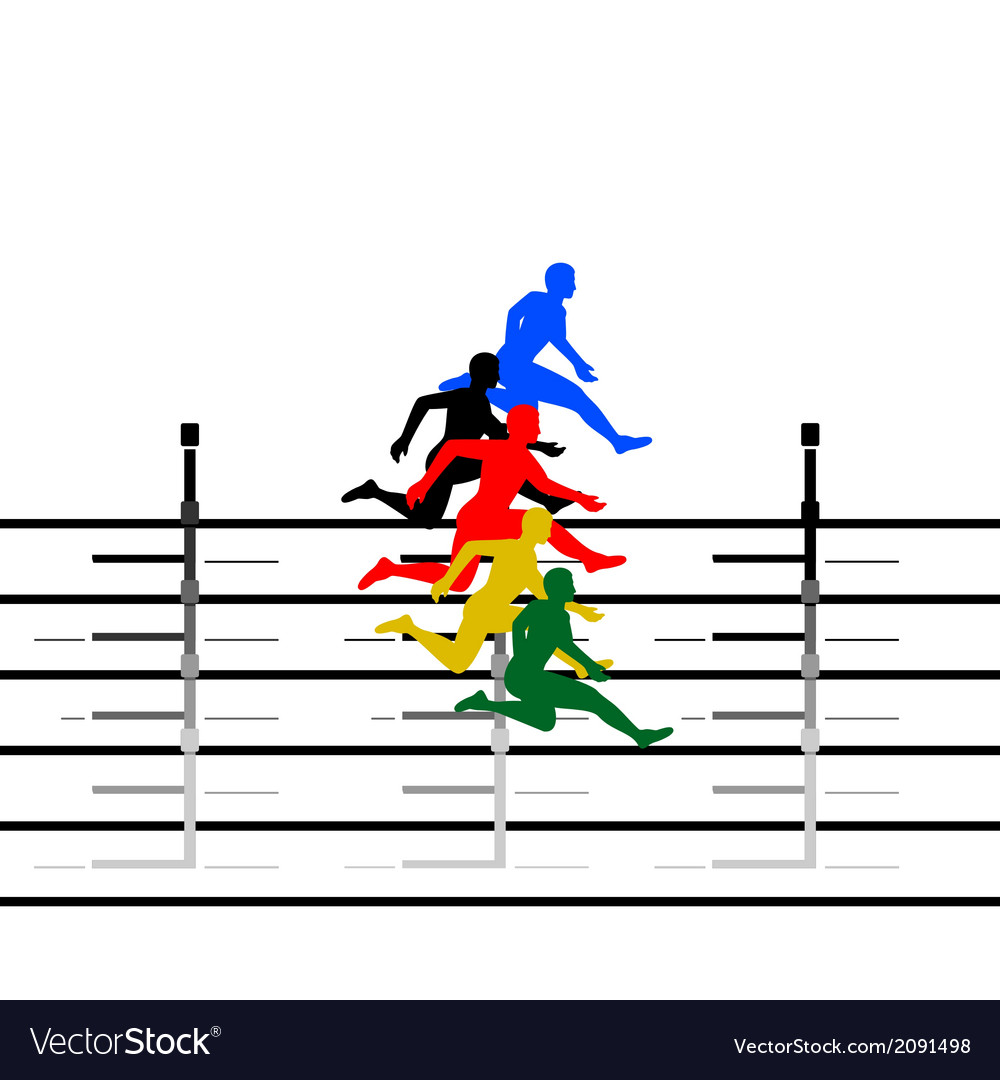 Athletics running hurdles-1 vector | Price: 1 Credit (USD $1)