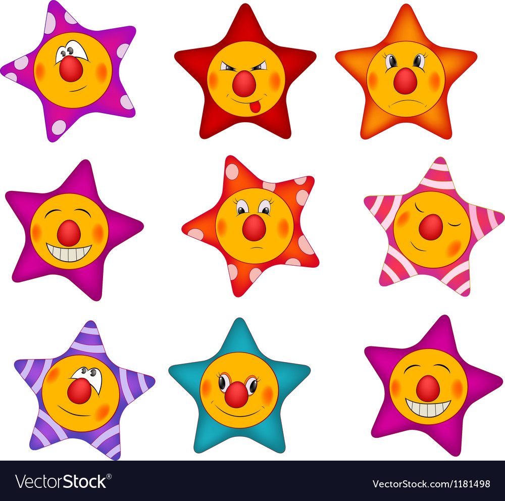 Cheerful small asterisks cartoon vector | Price: 1 Credit (USD $1)